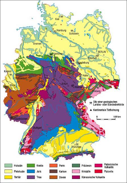 geologische karte deutschland Online: Geologische Karte von Deutschland | Deutschlandkarte geologische karte deutschland