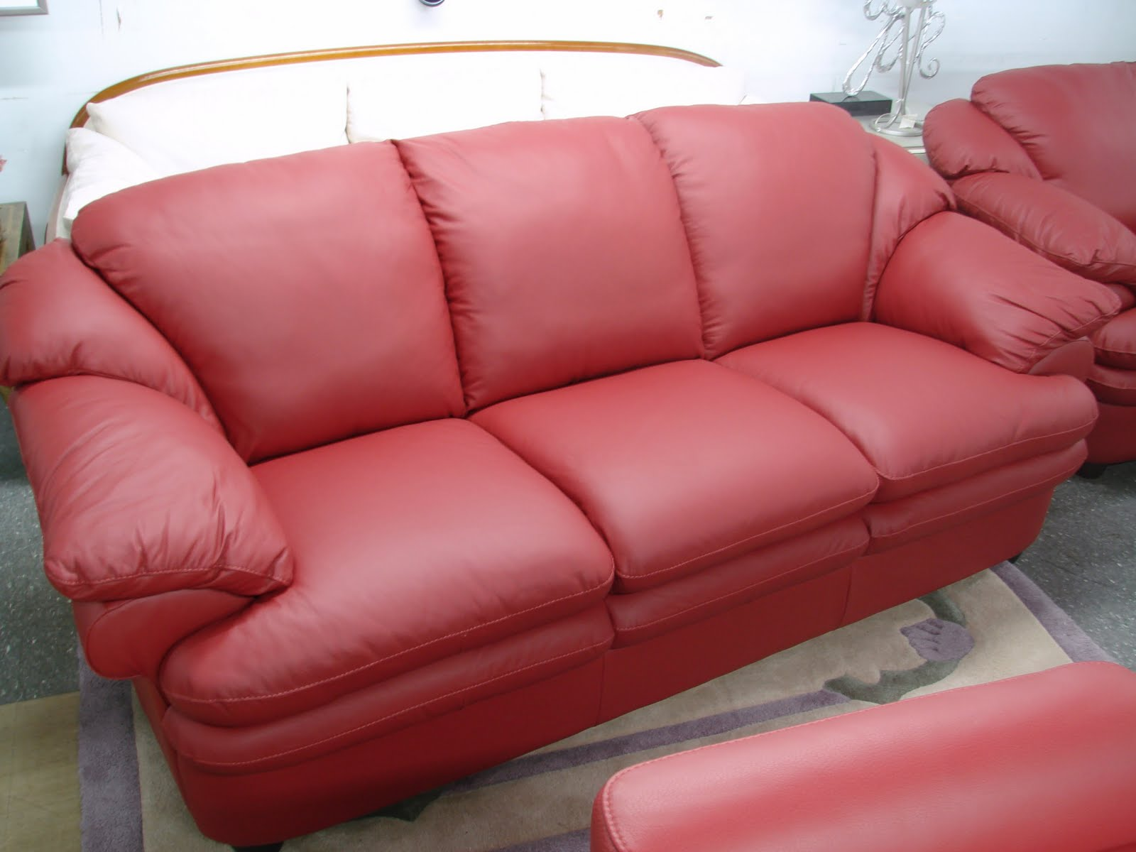 Natuzzi Red Leather Sofa And Chair Three Seat Dimensions Sofas Sectionals By Interior Concepts