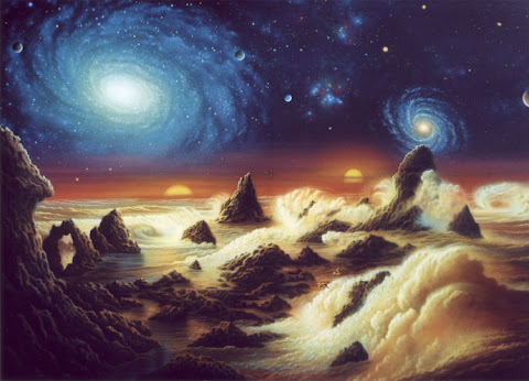 Andrew Stewart Space Art: Unexplored (Acrylic on Canvas)