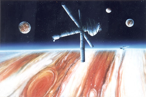 Andrew Stewart Space Art: Jupiter Mission (Acrylic on Canvas)