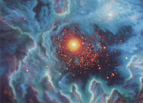 Andrew Stewart Space Art: Globular Cluster (Acrylic on Canvas)