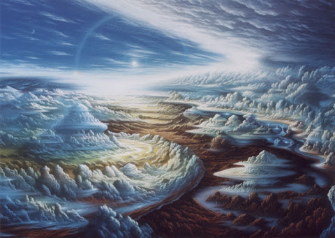Andrew Stewart Space Art: Jupiter Storm Systems (Acrylic on Canvas)