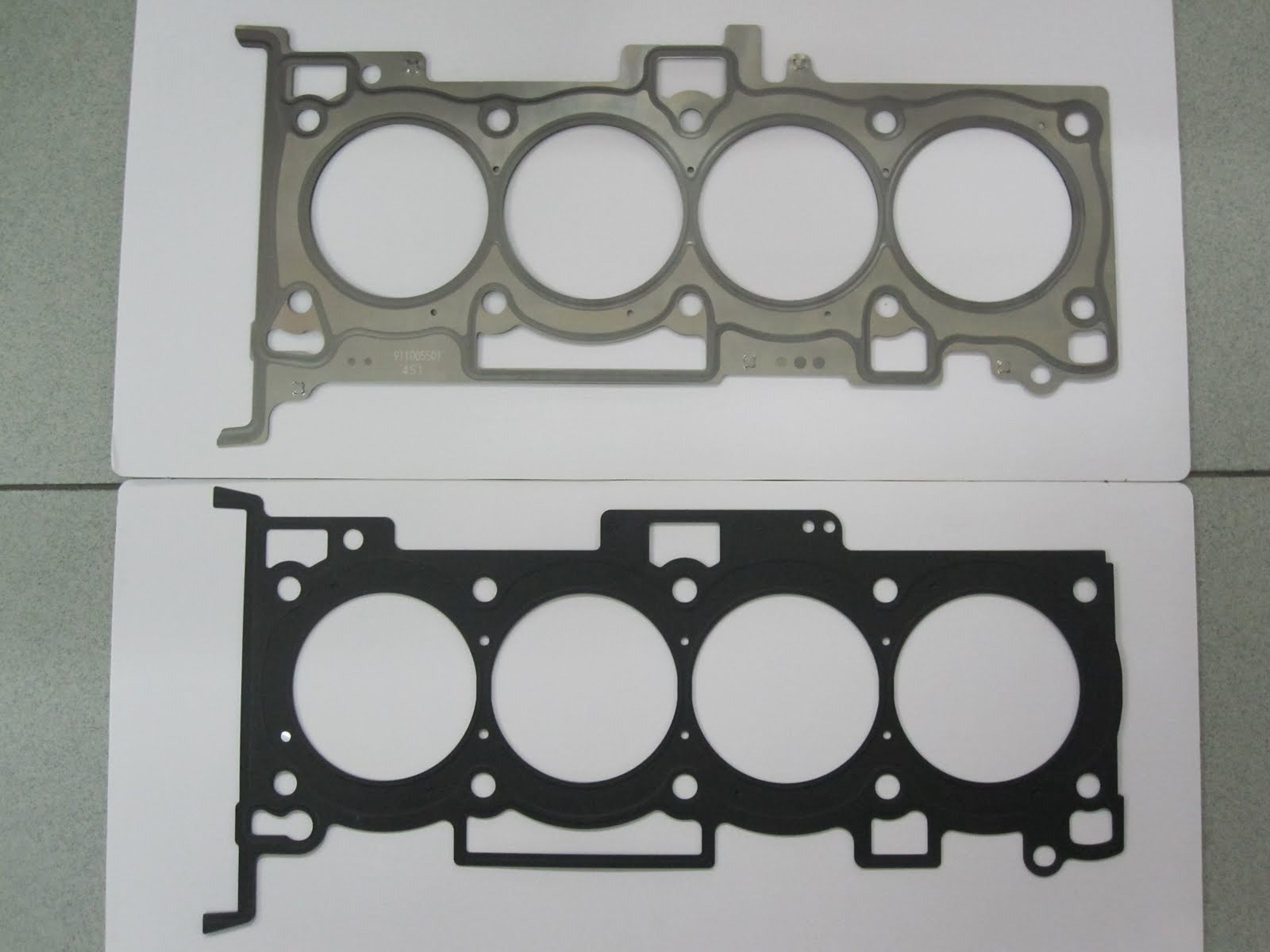 Kp Gasket January 2011 Nissan Qg18dd Wiring Diagram For The Cylinder Head As Usual Top Item Is Mitsubishi Engine And Bottom Hyundai When We Compare All Holes On
