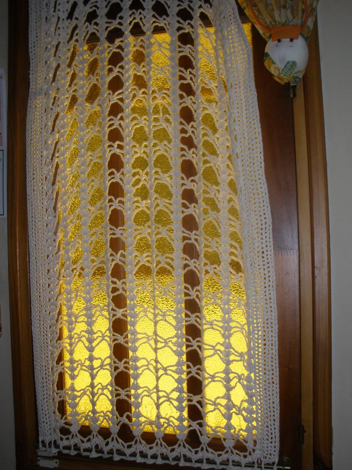 LAS VIOLETAS TEJIDOS  mis cortinas al crochet
