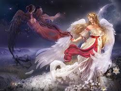 fantasy wallpapers angel funny desktop artwork jokes
