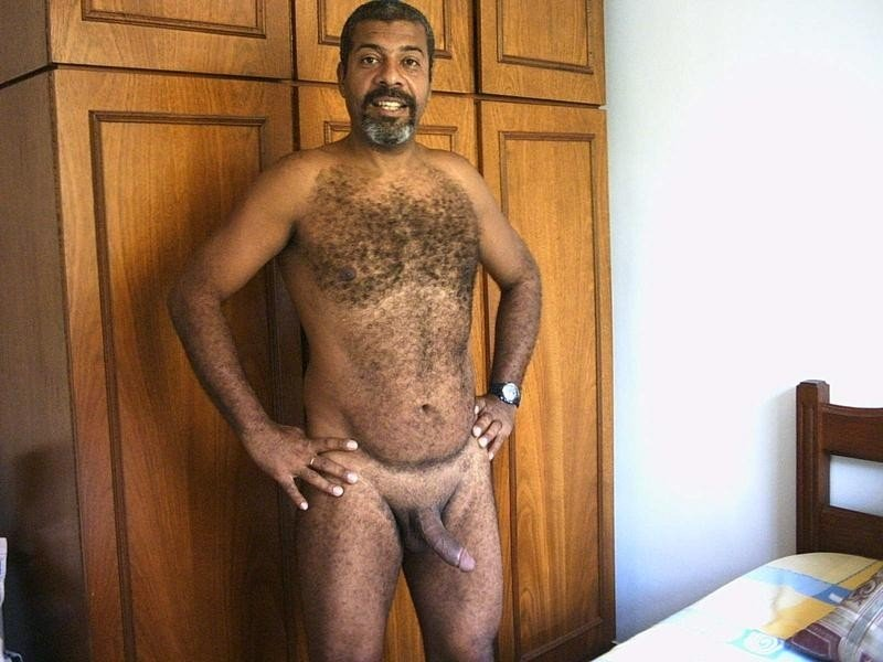 Naked mature black men
