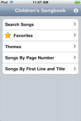 LDS Hymns iPhone Application: Children's Songbook 1 0 Now