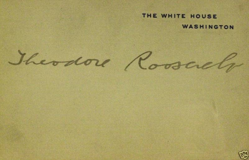 Autograph Value Guide Theodore Roosevelt