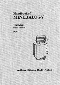 Handbook of Mineralogy - Vol. II(1): Silica, Silicates