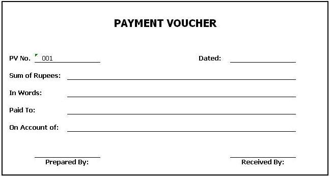 Cash payment voucher excel format - cash payment voucher excel