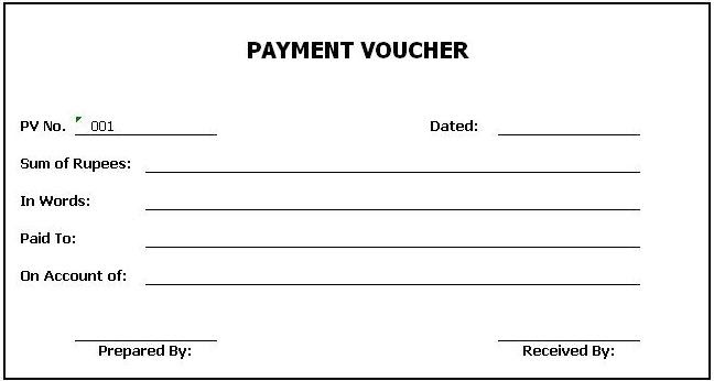 General Knowledge Library: Payment Voucher Template