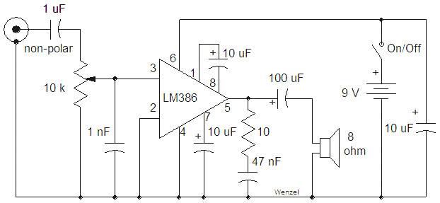 low voltage audio power amplifier lm386 low voltage audio power