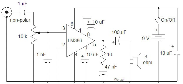 simple amplifier circuit using lm