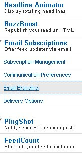 Click on email branding