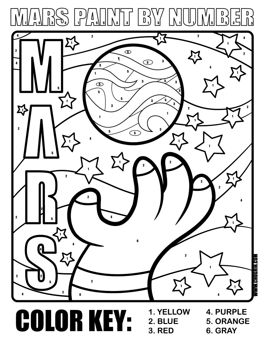 mars coloring pages | CHOGRIN {The Art of Joseph Game}: Exploring Mars Book ...