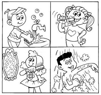 healthy me coloring pages - photo#26