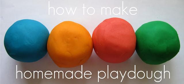 how to make homemade playdough
