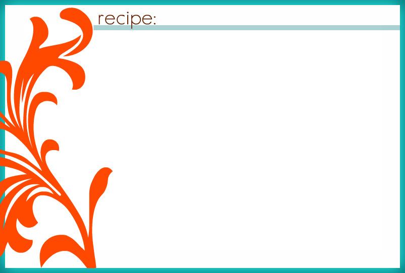 4x6 recipe card template microsoft word