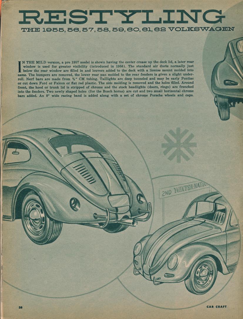 Car Craft Vw >> Big Blue S Online Carburetor May 1962 Car Craft Restyling