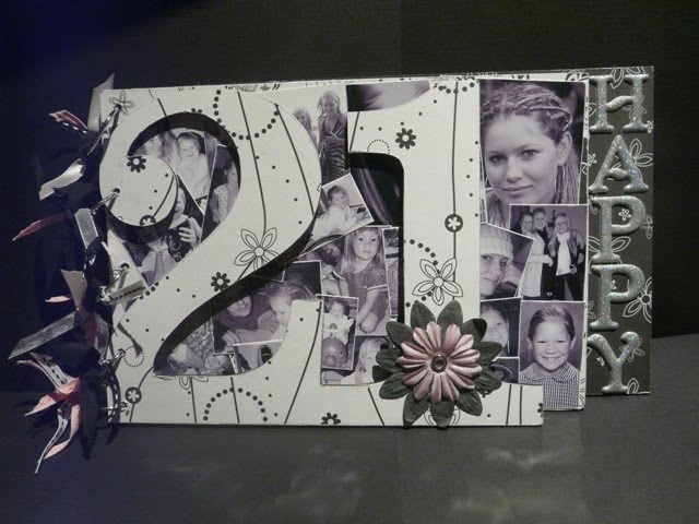 This Book Was Created For My Sister In Law Who Turned 50 Using Less Photos I Able To Leave Two Pages Front And Back Guests Sign At Her Party