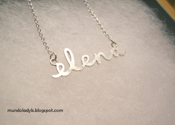 082de0eb1c55 colgante de nombre elena - onlysilver. lady b  mi nuevo collar con nombre