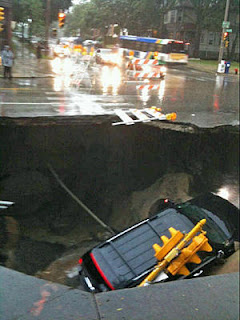 CapitalClimate: Sinkhole Swallows SUV in Milwaukee Monsoon
