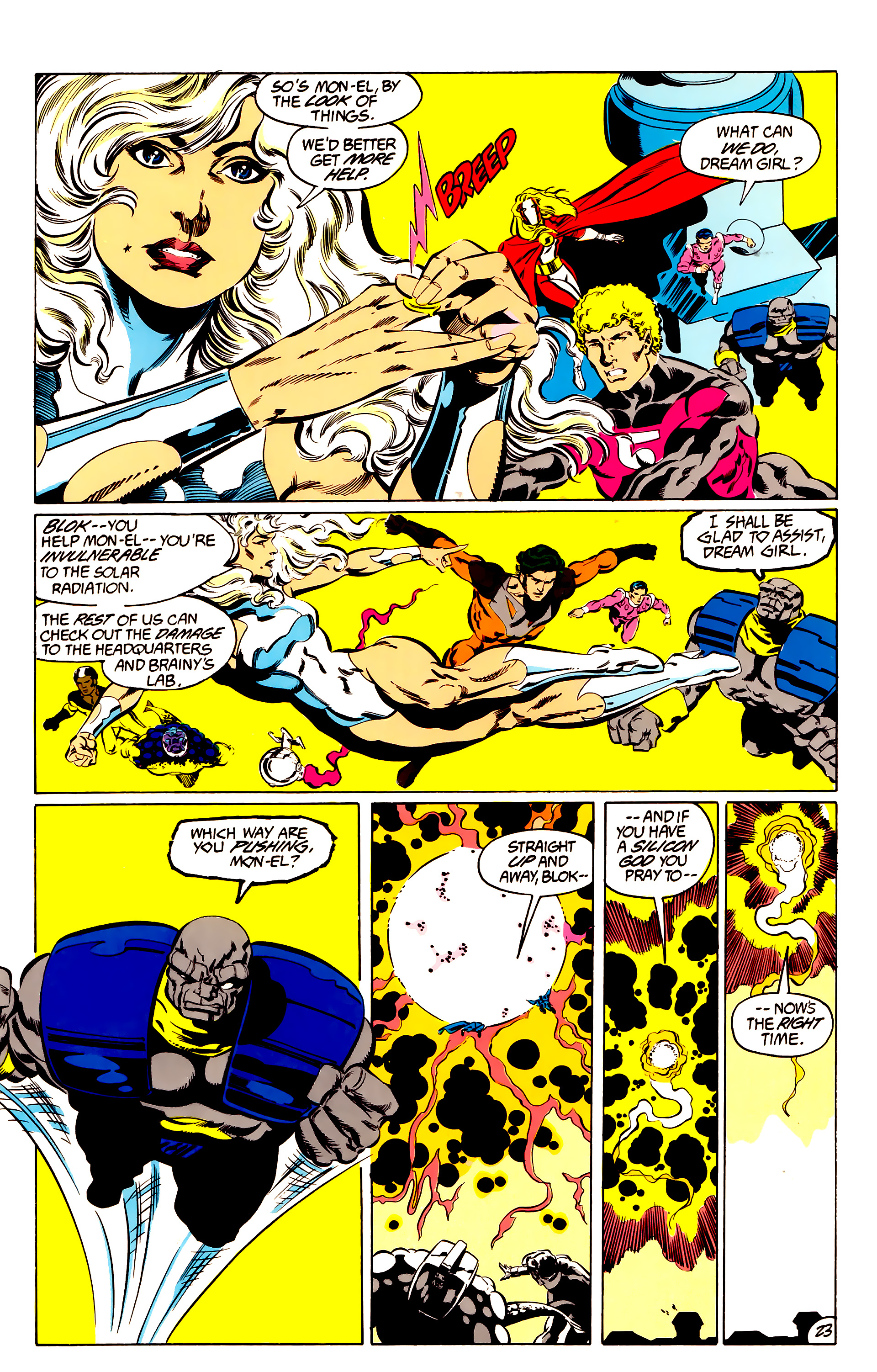 Legion of Super-Heroes (1984) 48 Page 23