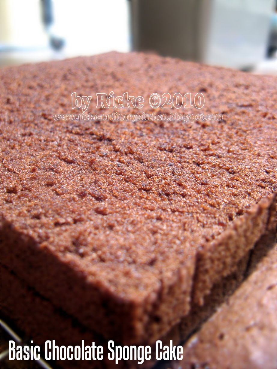 Just My Ordinary Kitchen Basic Chocolate Spongecake