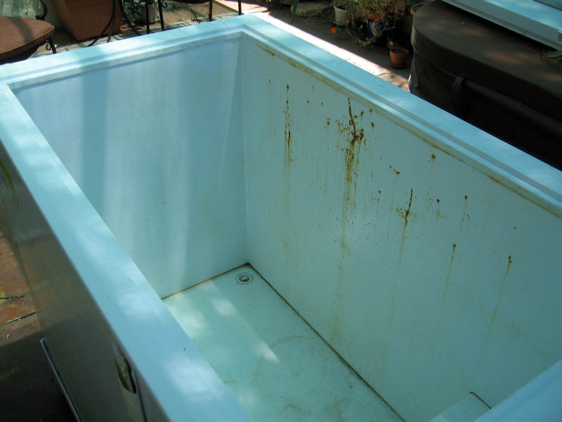 chillindamos homebrewing kegerator chest freezer rust repair round 3