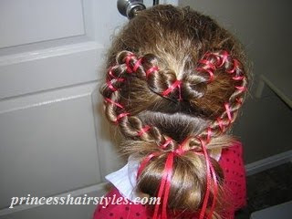 heart hairstyle