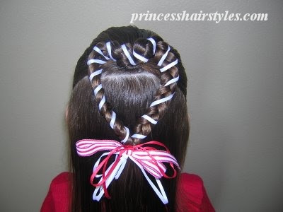 ribbon heart hair