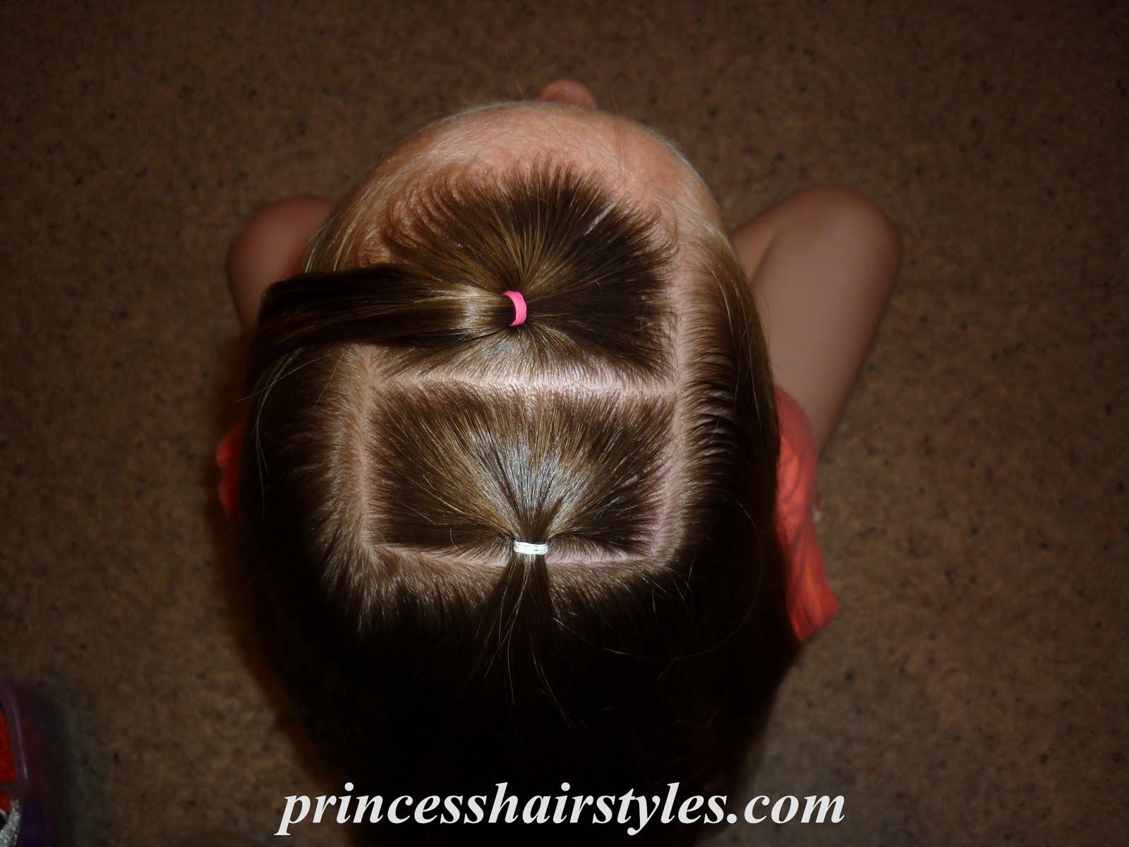 Awe Inspiring Ribbon Braided Ponytail Hairstyles For Girls Princess Hairstyles Short Hairstyles For Black Women Fulllsitofus