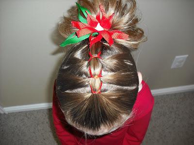 Astonishing Ribbon French Braid Christmas Style Hairstyles For Girls Short Hairstyles For Black Women Fulllsitofus