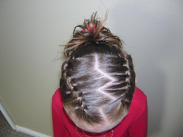 french braid broken heart hairstyle
