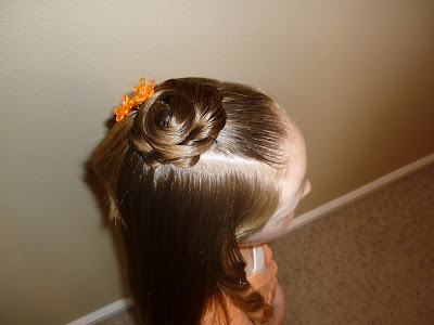 quick and cute hairdo