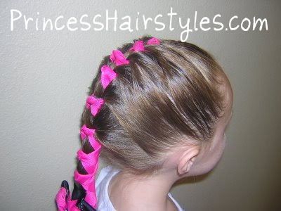 ribbon hairstyle for girls