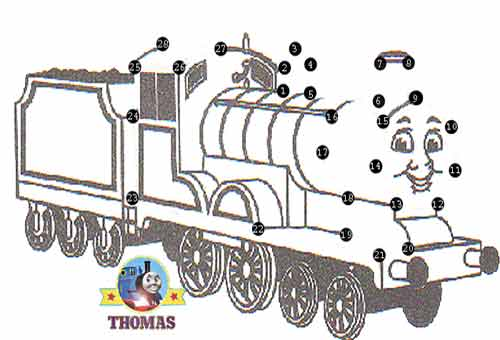 Thomas the tank engine games free online dot to dot for kids ...