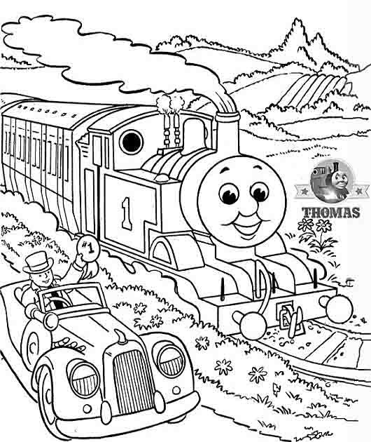 The Train Engine Thomas Tank Coloring Pictures Printable