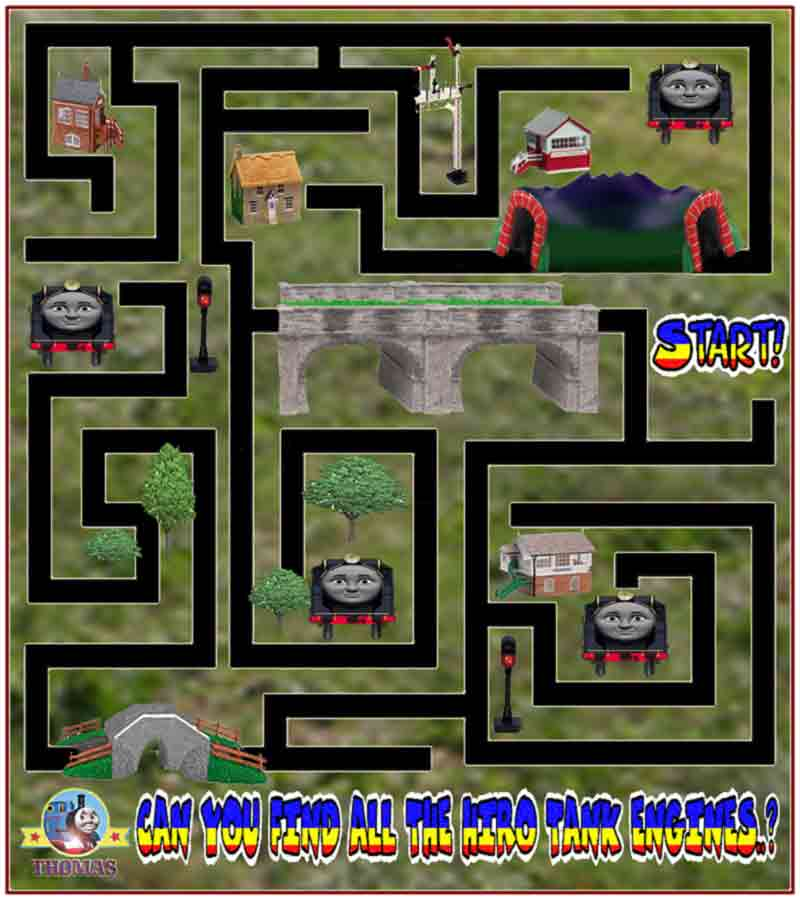 Preschool Maze Games For Children Play Free Online Thomas