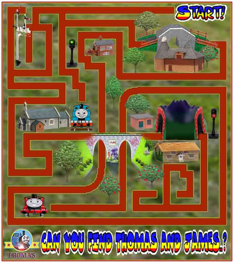 Train Thomas The Tank Engine Friends Free Online Games And Toys For Kids Printable Thomas Tank Maze Game Online For Kids