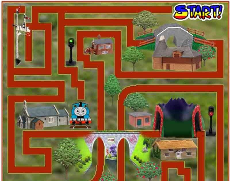Printable Thomas Tank Maze Game Online For Kids Train