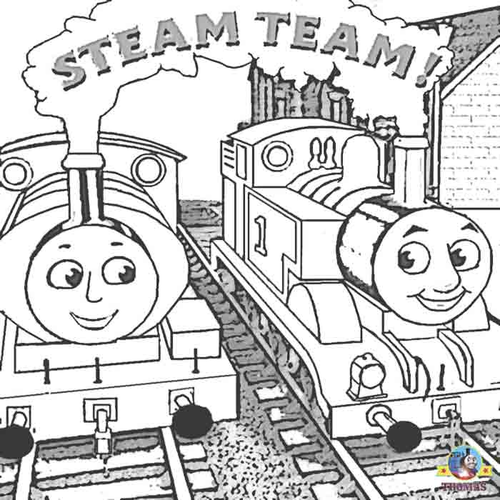 Thomas the train and friends coloring pages online free for Printable thomas the train coloring pages