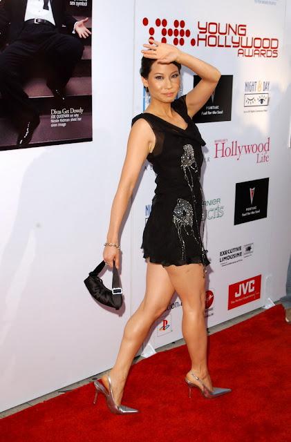 Lucy Liu calves