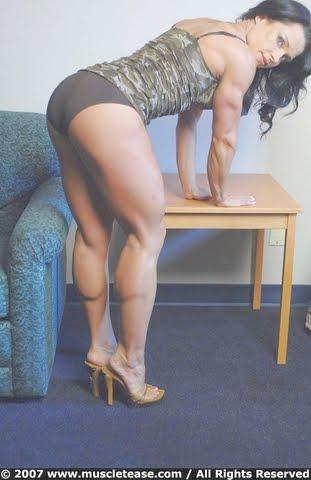 big thick leg women muscle