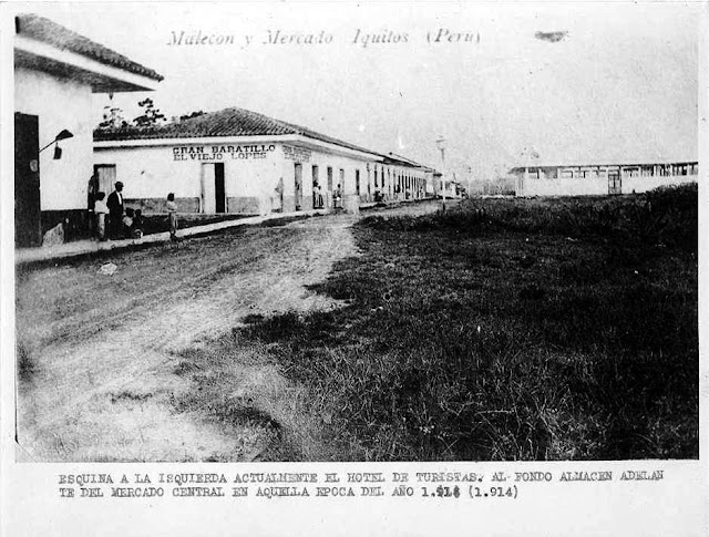 Central Market 1914 (far R) Corner of Hotel Turistas ( far L)