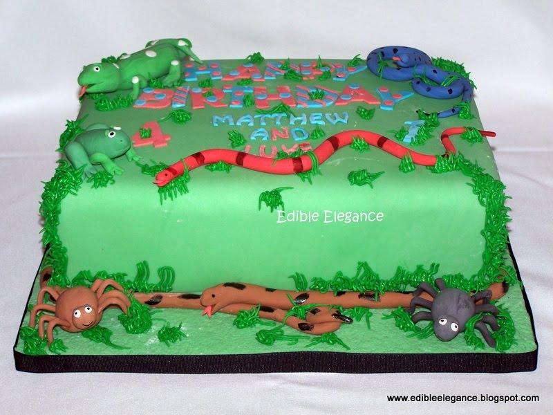 Edible Elegance Reptile Cake
