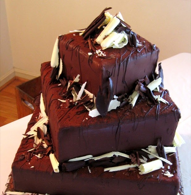 Square Wedding Cake Ideas: Unusual Square Wedding Cake Pictures: Chocolate Drizzle Cake