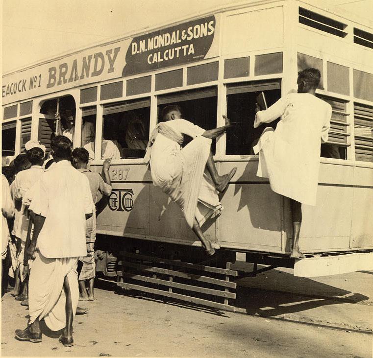 Calcutta Tram 1945