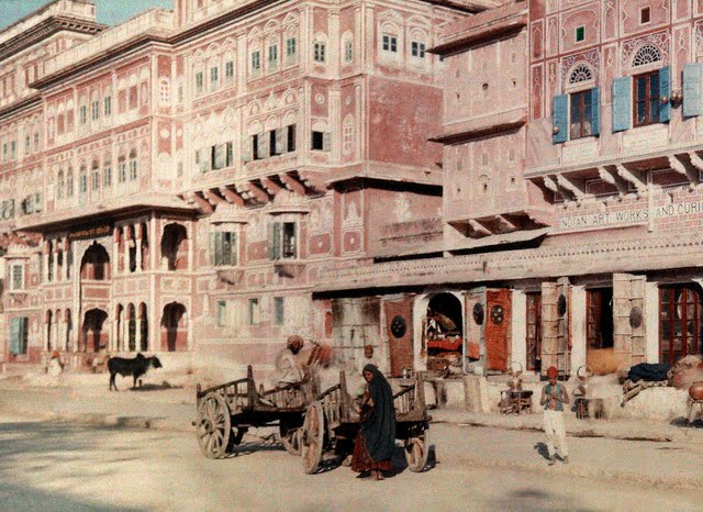 A view of the streets of Jaipur - 1926