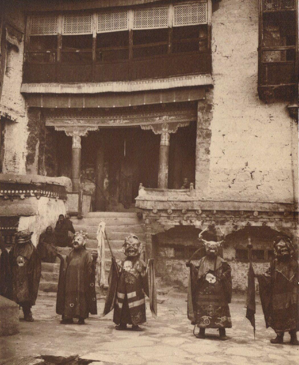 Gumpa (Devil Dance), Sikkim monastery c.1903